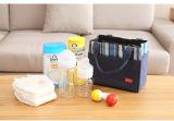 Bolsa do saco mais fresco do almoço, saco isolado do frasco de leite do bebê