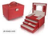 Form-Entwurf klassischer roter Croco lederner ovaler Form-Schmucksache-Kasten