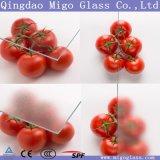 Vidrio claro y difuso de la alta calidad de la horticultura para la construcción comercial del invernadero