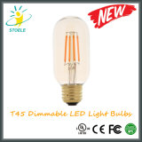 T45 8W E27 240V LED 전구 Edison LED 전구
