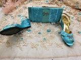 Шнурок новой ткани шнурка Tulle прибытия африканской Beaded французский сетчатый