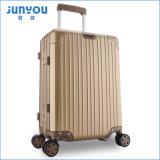 Верхнее качество Hardshell 20 24 багажа полета рамки Titanium золотистых цвета дюйма алюминиевых