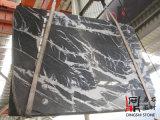 De natuurlijke Grijze Marmeren Plakken Marquina van de Steen voor de Tegels van de Bevloering/de Bekleding/Countertop van de Muur