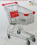 carro asiático do trole do mantimento do supermercado do estilo 135L