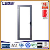 Portas de dobradiças de vidro de alumínio interiores