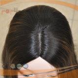 Parrucca ebrea di vendita superiore di colore dei capelli di Remy del Virgin della pelle di tecnica bianca non trattata della parte superiore