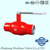 浙江のガスのためのハンドルが付いている十分に溶接されたA106球弁