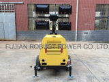 1500rpm 디젤 엔진 발전기 등대 4*1000W 금속 할로겐 램프 Rplt6800