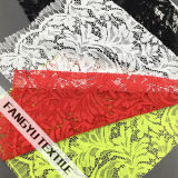 Tessuto denso del merletto del foglio per il tessuto dell'indumento