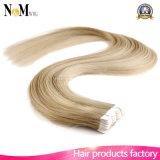 毛の拡張皮の毛Weft PUテープ毛の拡張Remyの人間の毛髪のテープ