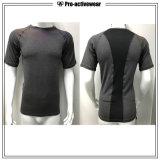 2016 T-shirts faits sur commande de qualité longs sèchent les dessus en bonne santé de compactage