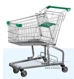 Caddie américain en métal de chariot à achats de type pour l'hypermarché (OW-M60L)