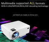 2016 projetor barato do teatro Home do diodo emissor de luz de Luxcine Ptp200 mini, 800*480, 1000 lúmens, 2000:1