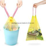 Sacchetto di immondizia di plastica pulito del Drawstring di cappello di grande capienza