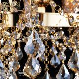 Indicatore luminoso a cristallo del lampadario a bracci del cognac lungo