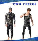 Wetsuit estupendo de Spearfishing del buceo con escafandra del estiramiento 5m m del neopreno de los hombres