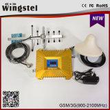 2016 repetidor móvel do sinal do projeto 2g 3G 4G GSM/WCDMA 900/2100 novo com antena