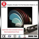 Laminado del compacto de la base de color sólido de la resina fenólica