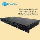 Platform van de Convertor van de Media van het Protocol van de Rang van de carrier het Handelbare 3r Veelvoudige