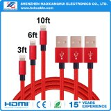 Cable de carga del USB de la sinc. de la transferencia de la alta calidad para el iPhone