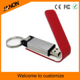 Mecanismo impulsor del flash del USB del cuero del rectángulo del asunto