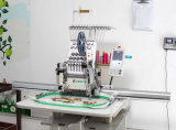 Kommerzieller einzelner grosser Hauptbereichs-flache Stickerei-Maschine für Schutzkappe, T-Shirt, Kleid-Stickerei-Maschine mit 12/15 Farben für heiße Verkäufe