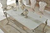 Tabela e cadeiras de vidro de jantar de Seater do círculo barato moderno 6