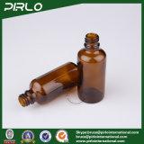 янтарные светозащитные стеклянные бутылки брызга 50ml с белым спрейером насоса