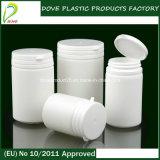 Бутылка конфеты круглой формы цилиндра HDPE пластичная