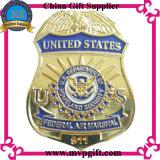 金属の警察は3Dロゴの彫版(m-B08)と記章を付ける