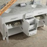 Fed-1986 mobilia moderna di vendita della stanza da bagno di rifinitura bianca dei 72 dispersori doppi di pollice migliore