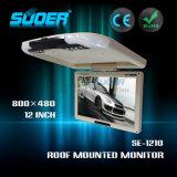 12 van de LEIDENE van de duim Monitor van de Auto LCD Monitor gelijkstroom 12V de Dak Opgezette (SE-1210)