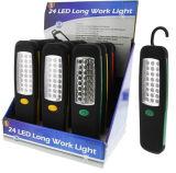 24 ganchos de leva colgantes de la parte trasera magnética de la luz del trabajo del LED
