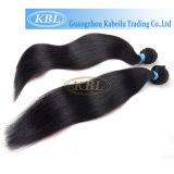 Tecelagem brasileira reta natural do cabelo do preto de jato