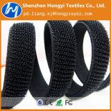 Negro elástico desmontable del organizador del cable de la correa del lazo del bucle del gancho de leva del sujetador