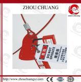 Fechamento ajustável do cabo do aço inoxidável com os seis cadeado disponíveis