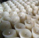 Vacaciones regalo de la decoración sin llama de la vela del LED en forma de pilar