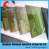 高品質3-19mm建物ガラスのための厚いカラーフロートガラスまたは青、緑、青銅色の反射ガラス