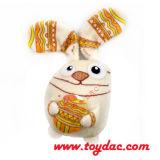 プラシ天の小型喜劇的なウサギのキーホルダー