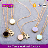 Venda Por Atacado Custom Zinc Alloy Charms Gold Chain Pendant Necklace