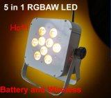 lumière sans fil d'étape de Rgbaw de la batterie 9X15W pour la noce