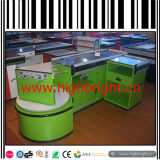 Double Sided Electric Supermarket Checkout Cashier Counter