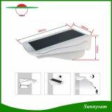 Lâmpada da segurança do jardim da potência solar do diodo emissor de luz, luz solar brilhante da parede do sensor de movimento do diodo emissor de luz 3W 38