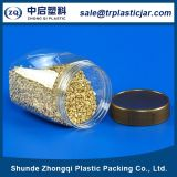 Latas plásticas del alimento del animal doméstico transparente con la tapa plástica