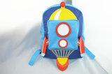 男の子の青いロケットの新型ポリエステルバックパック