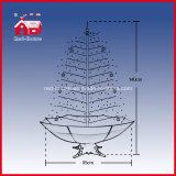 De LEIDENE van de Decoratie van de vakantie Decoratieve Lichte Sneeuwende Kerstboom van de Tuin