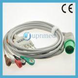 Cable del Defibrillator Tec-5200A ECG de Nihon Kohden con los alambres de terminal de componente, 11 contactos