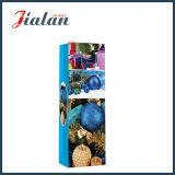Лоснистый прокатанный мешок подарка покупкы бутылки рождества бумаги цвета слоновой кости бумажный