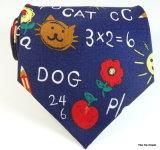 2017 cravates drôles d'école en soie 145cm (A401)
