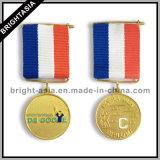 Medaglione di sport con il nastro della medaglia per funzionare (BYH-101140)